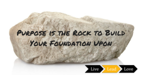 Purpose is the Rock to Build Your